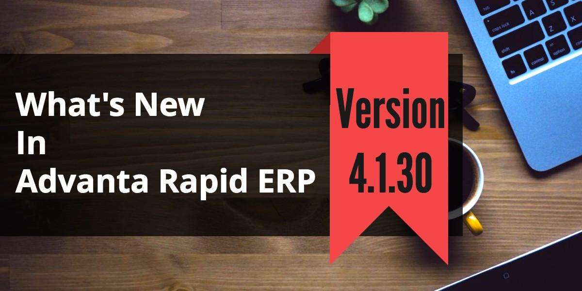 Transportation Management System Advanta Rapid ERP Update 4.1.30