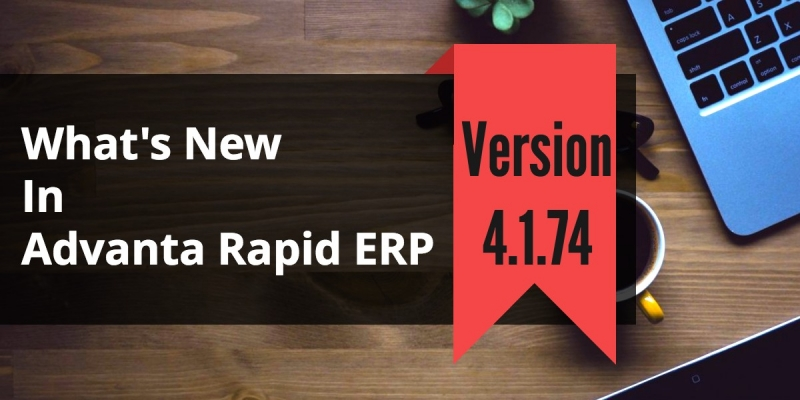 Employee Management Software Advanta Rapid ERP Update 4.1.74