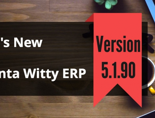 Inventory Management Software Advanta Witty ERP Update 5.1.90