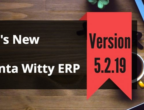 Inventory Control Software Advanta Witty ERP Update 5.2.19