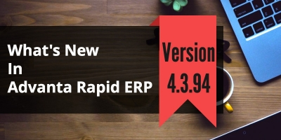School Accounting Software Advanta Rapid ERP Update 4.3.94