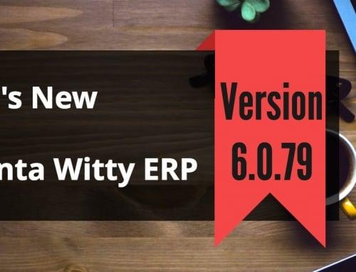 Small Business ERP Software Advanta Witty ERP Update 6.0.79