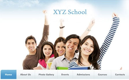School Website Design Development
