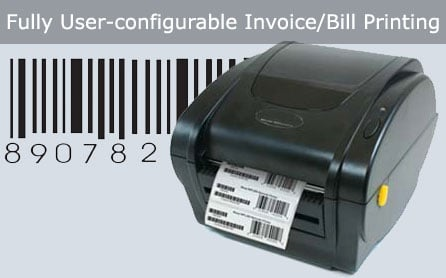 User Configurable Invoice Bill Printing Software