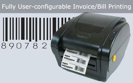 User Configurable Invoice Bill Printing Software